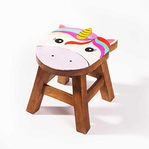 KRobusto sgabello per bambini con motivo unicorno, altezza seduta 25 cm