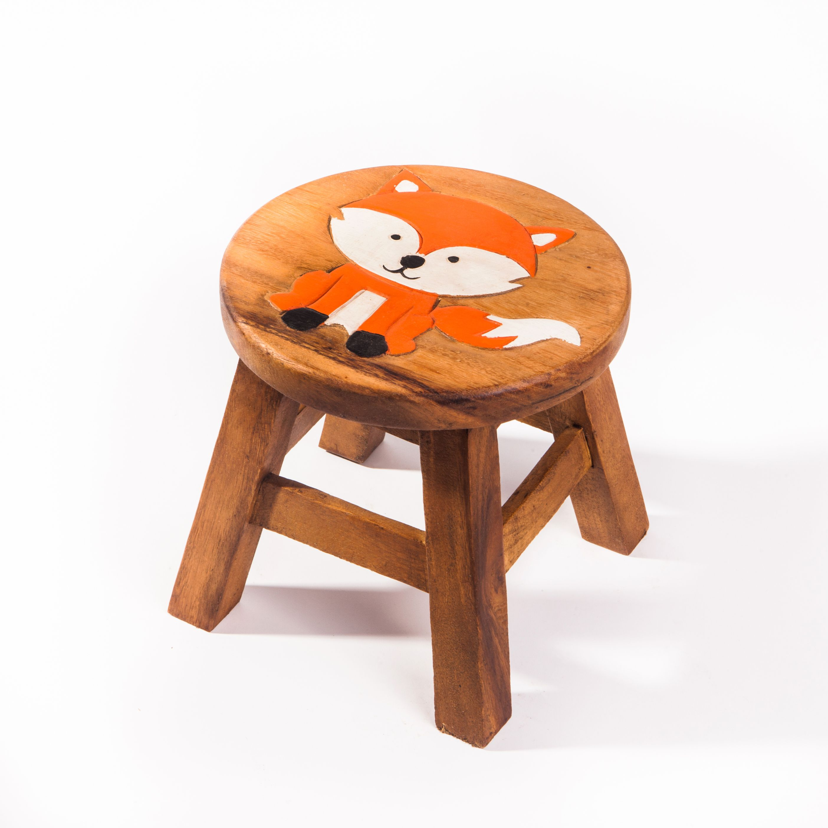 Kinderhocker Hocker aus Holz Sitzgruppe Kinderstuhl Eule Holz