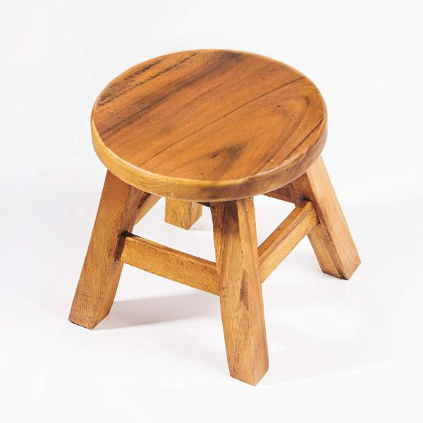 FairEntry Kinderhocker, Schemel, Kinderstuhl massiv aus Holz
